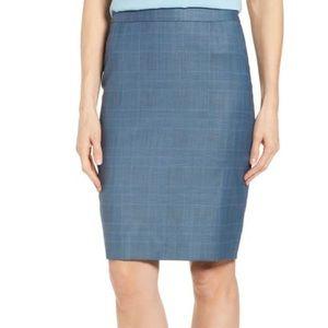 NEW Hugo Boss Vimena Glencheck Pencil Skirt 2